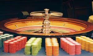 Roulette wiel fiches